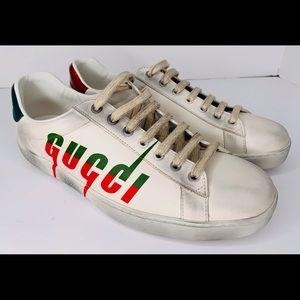 Gucci New Ace Logo Sneaker size 8 1/2 UK 9 1/2 US